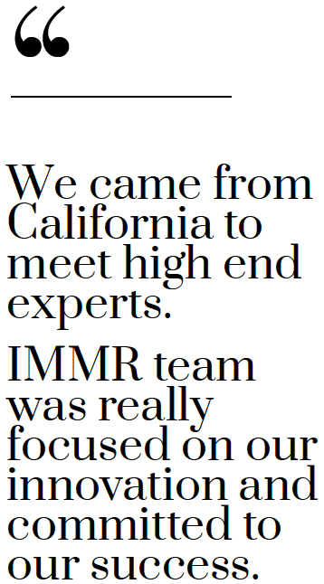 we came from california - IMMR
