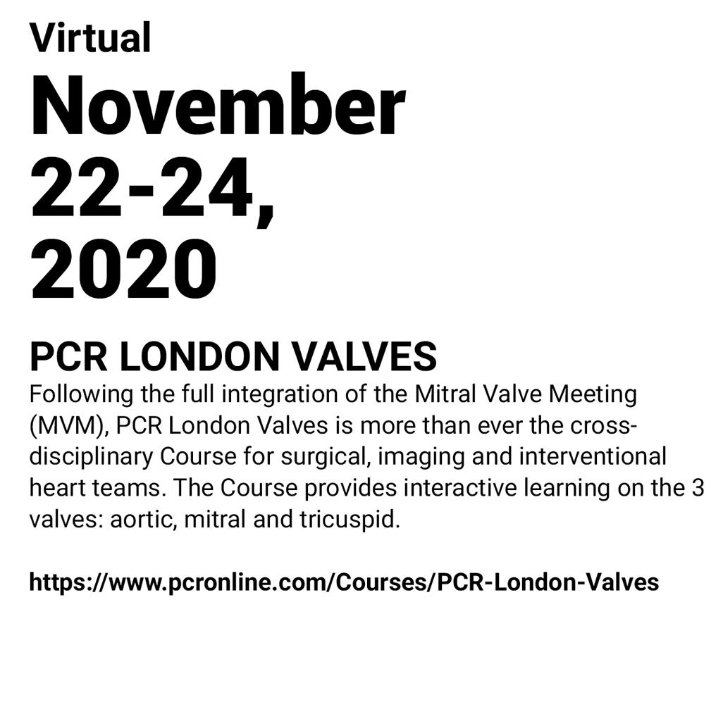 IMMR - PCR LONDON VALVES 2020