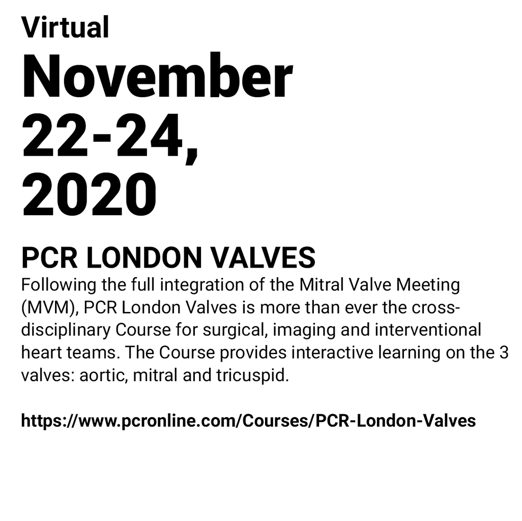 IMMR - PCR LONDON VALVES 2020
